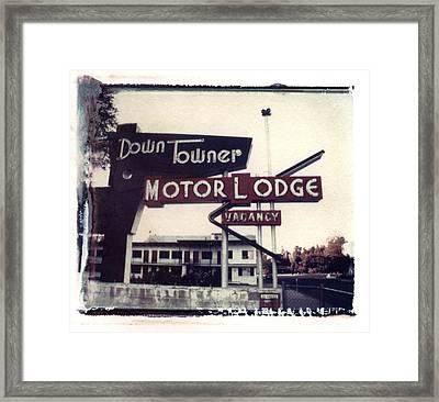 Down Towner Framed Print by Jane Linders