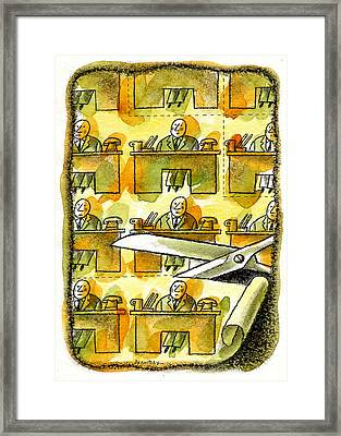 Downsizing Framed Print by Leon Zernitsky