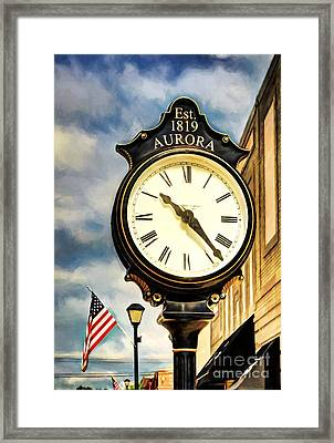 Downtown Aurora Indiana Framed Print by Mel Steinhauer