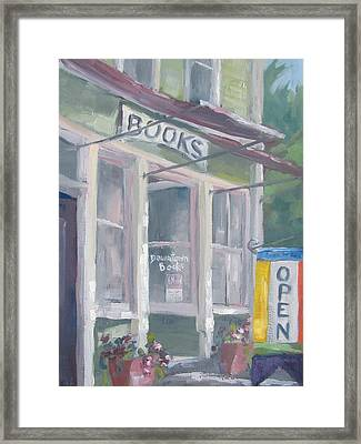 Downtown Books Four Framed Print by Susan Richardson