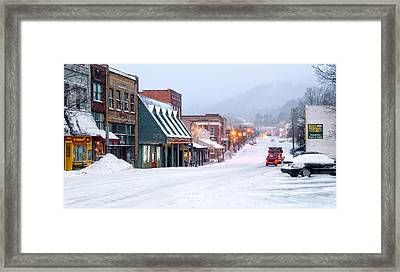 Downtown Boone Framed Print by Tommy White