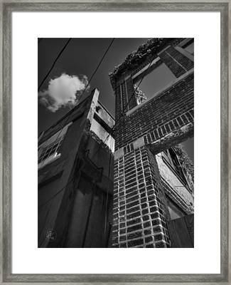 Downtown Clarksdale 003 Bw Framed Print by Lance Vaughn