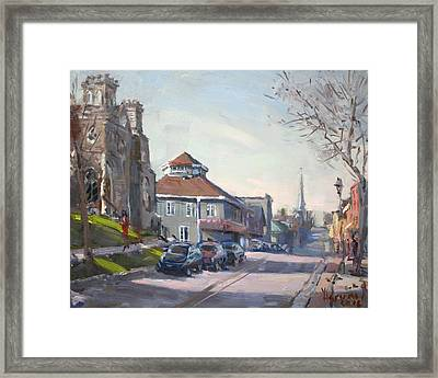 Downtown Georgetown On Framed Print by Ylli Haruni