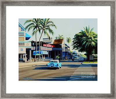 Downtown Lahaina Maui Framed Print by Frank Dalton