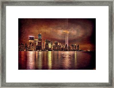 Downtown Manhattan September Eleventh Framed Print by Chris Lord