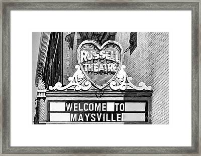 Downtown Maysville Kentucky # 4 Black And White Framed Print by Mel Steinhauer