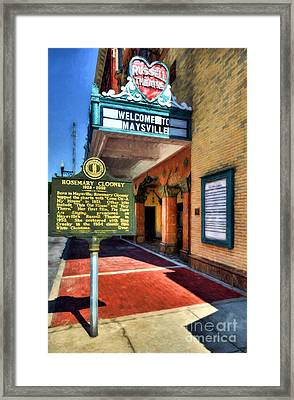 Downtown Maysville Kentucky Framed Print by Mel Steinhauer