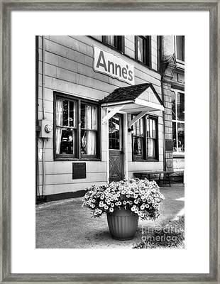 Downtown Metamora Indiana Bw Framed Print by Mel Steinhauer