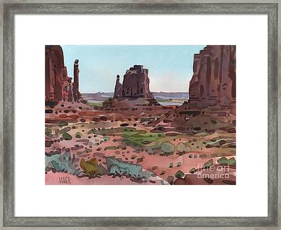 Downtown Monument Valley Framed Print by Donald Maier