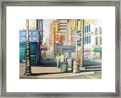 Downtown Framed Print by Sam Sidders