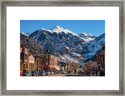 Downtown Telluride Framed Print by Darren White