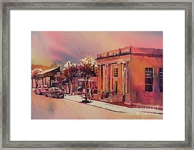Downtown Usa Framed Print by Ryan Fox