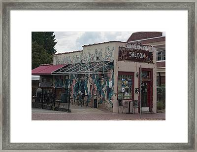 Downtown Winston Salem Series - Silvermoon Saloon Vii Framed Print by Suzanne Gaff