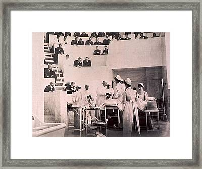 Dr. Harvey Cushing  With  William Framed Print by Everett