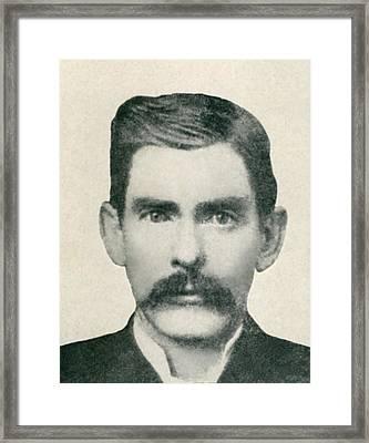 Dr. John H. Holliday 1851-1887 Was An Framed Print by Everett