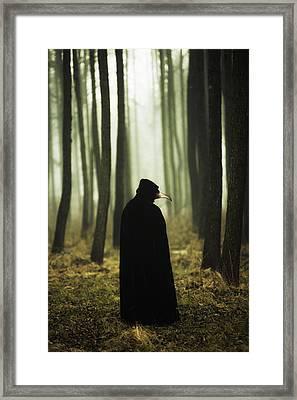 Dr Plague Framed Print by Joanna Jankowska