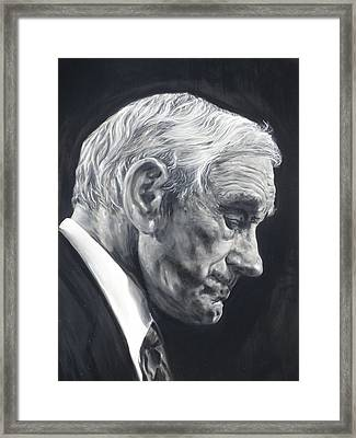 Dr. Ron Paul Framed Print by Adrienne Martino