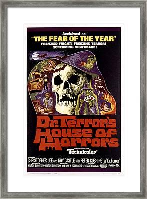 Dr. Terrors House Of Horrors, Poster Framed Print by Everett