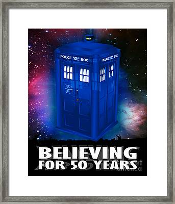 Dr Who Believing Framed Print by Neil Finnemore