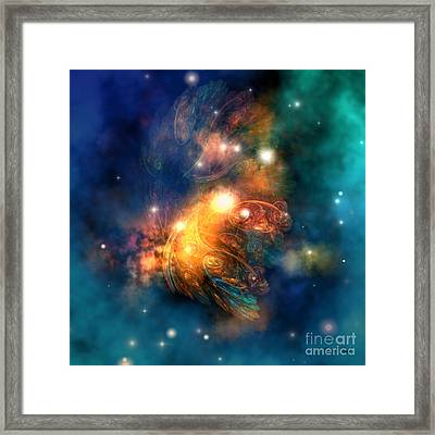 Draconian Nebula Framed Print by Corey Ford