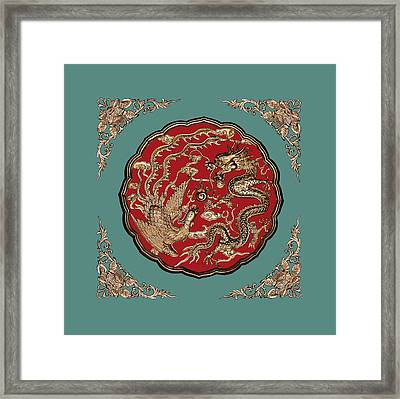 Dragon And Phoenix Framed Print by Kristin Elmquist