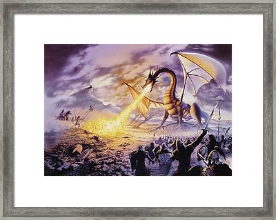 Dragon Battle Framed Print by The Dragon Chronicles - Steve Re