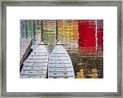 Dragon Boats In Evening Light Framed Print by Chris Dutton