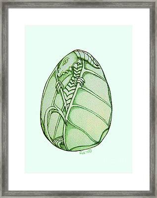 Dragon Egg Framed Print by Nick Gustafson