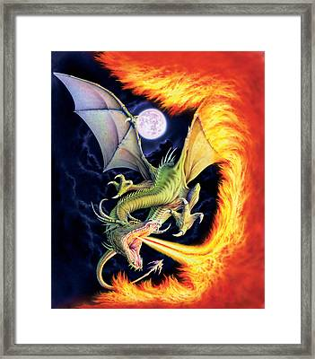 Dragon Fire Framed Print by The Dragon Chronicles