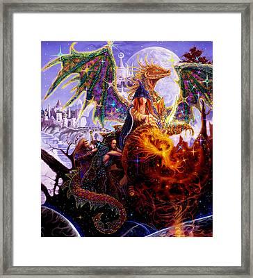 Dragon Master's Apprentice Framed Print by Steve Roberts