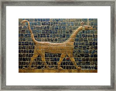 Dragon Of Marduk - On The Ishtar Gate Framed Print by Anonymous