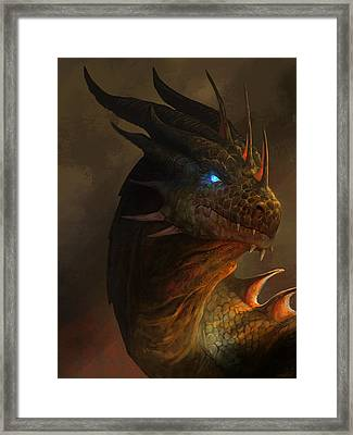 Dragon Portrait Framed Print by Steve Goad