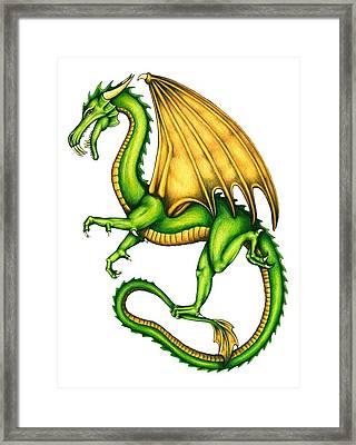 Dragon Framed Print by Sheryl Unwin