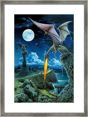 Dragon Spit Framed Print by The Dragon Chronicles - Robin Ko