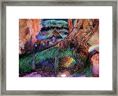 Dragon Under The Hill Framed Print by Jane Tripp