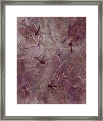 Dragonflies Framed Print by Jean Gugliuzza