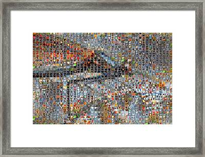 Dragonfly Framed Print by Boy Sees Hearts