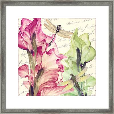 Dragonfly Morning I Framed Print by Mindy Sommers