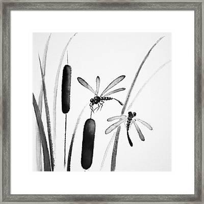 Dragonfly Serenity Framed Print by Oiyee At Oystudio