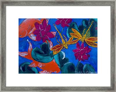 Dragonflys Framed Print by Julie Butterworth