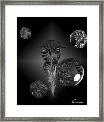 Dragons And Tigers Framed Print by Andrea Lawrence