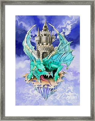 Dragons Keep By Spano Framed Print by Michael Spano