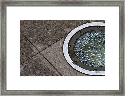 Drain Framed Print by Rebecca Cozart