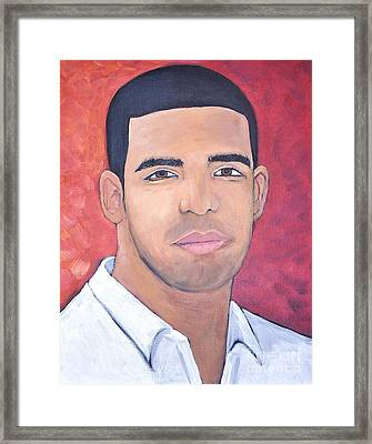 Drake Framed Print by Reb Frost