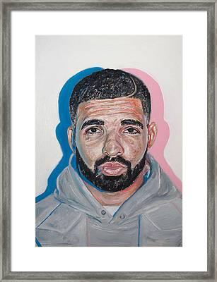 Drake Framed Print by Steph Maiden