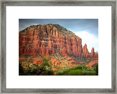 Drama In Sedona Framed Print by Carol Groenen