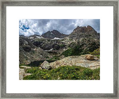 Dramatic Black Lake Framed Print by Aaron Spong