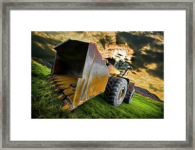 Dramatic Loader Framed Print by Meirion Matthias