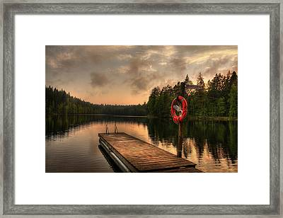 Dramatic Sunset On A Lake In Finland Framed Print by Sandra Rugina