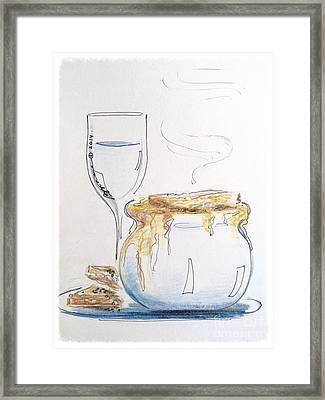 Drapingly Delicious Framed Print by Barbara Chase